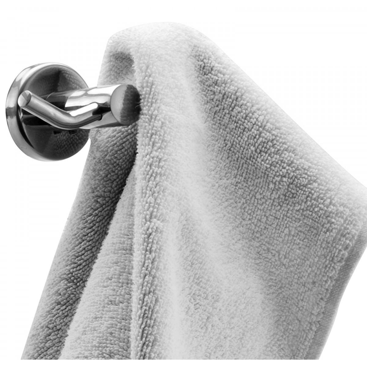 Klaxon Krysil Stainless Steel Bath Robe Hook Silver Chrome Finish Robe Hook Bathroom
