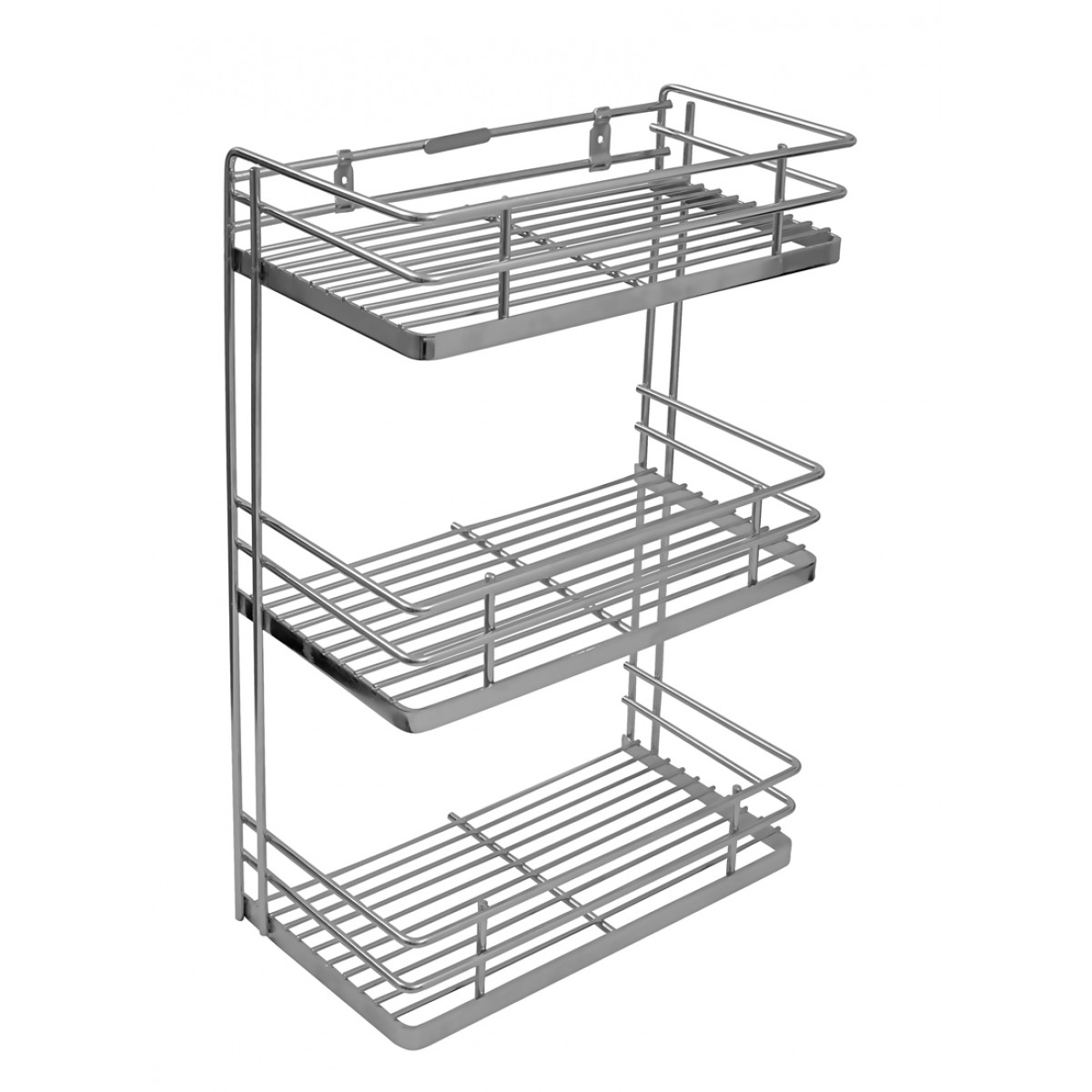 Kitchen Basket Klaxon Triple Front Shelf Spice Rack Kitchen Basket Stainless Steel