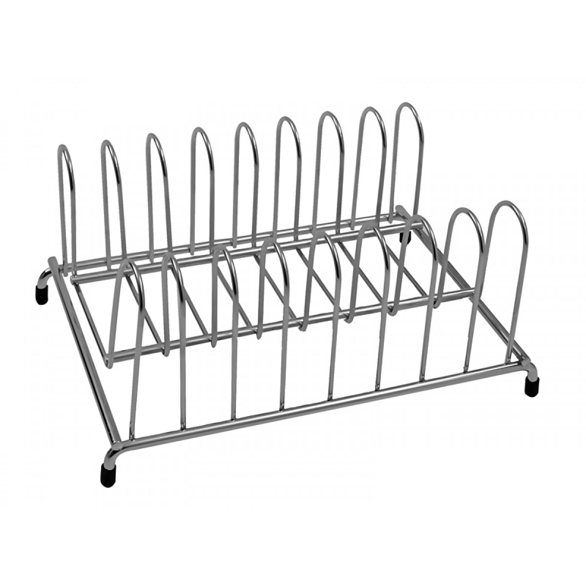 Klaxon Stainless Steel Plate Rack (Chrome Finish)