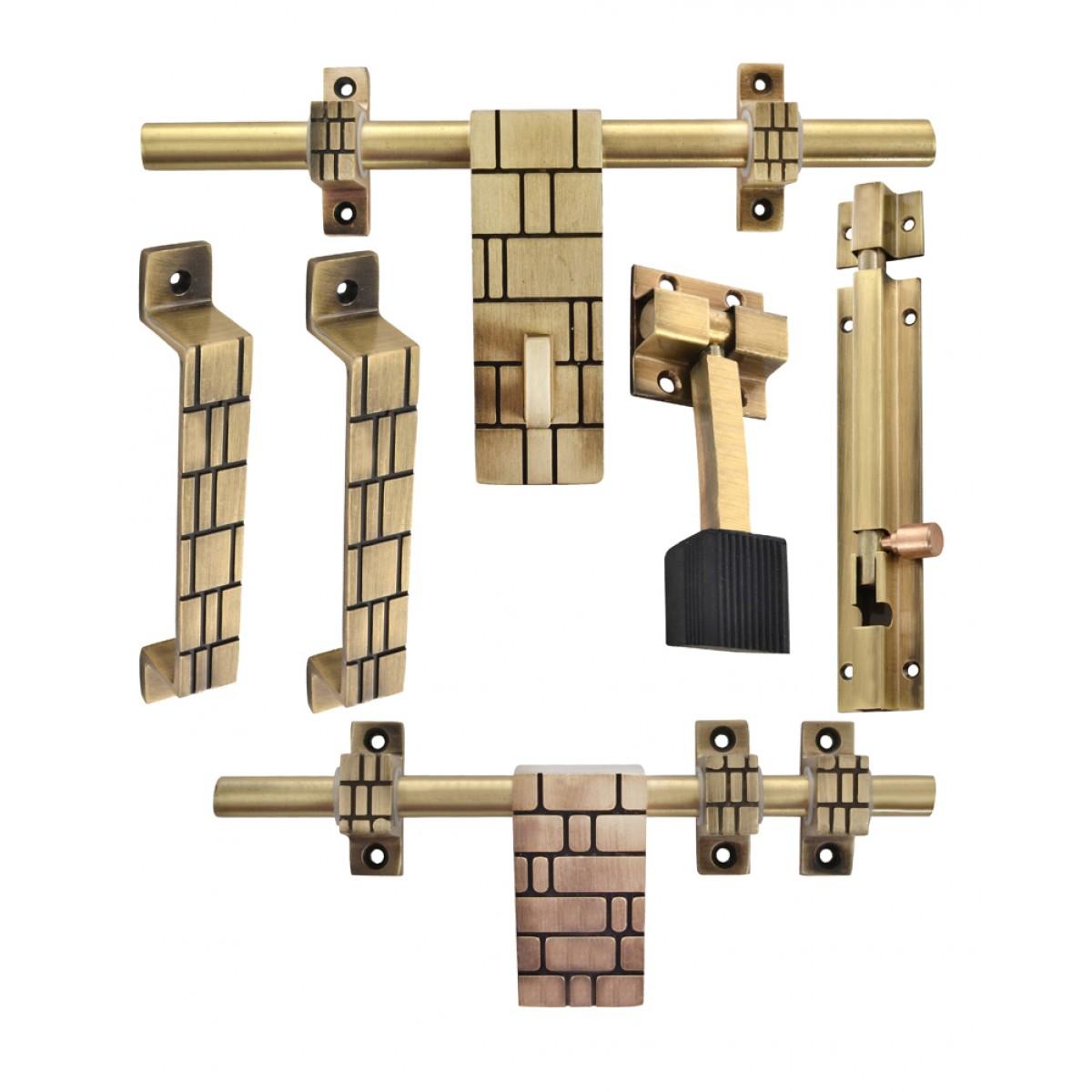Klaxon Glorious 3 Brass Door Accessories Kit (Antique Finish)  sc 1 st  Klaxon Hardware & Klaxon Glorious 3 Brass Door Accessories Kit (Antique Finish) - Door ...