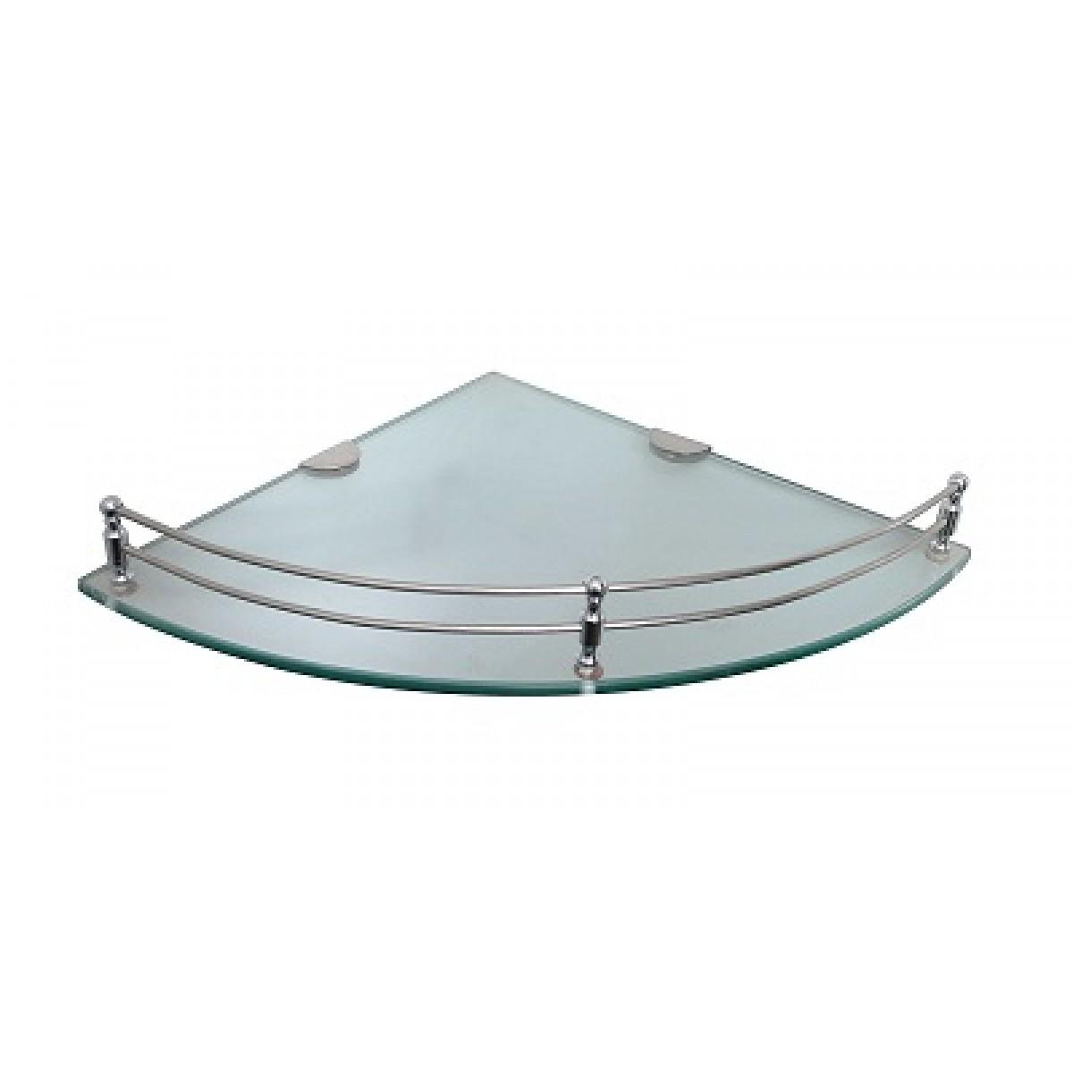 Klaxon Glass Corner Shelf (Glossy) - Bath Shelf - Bathroom