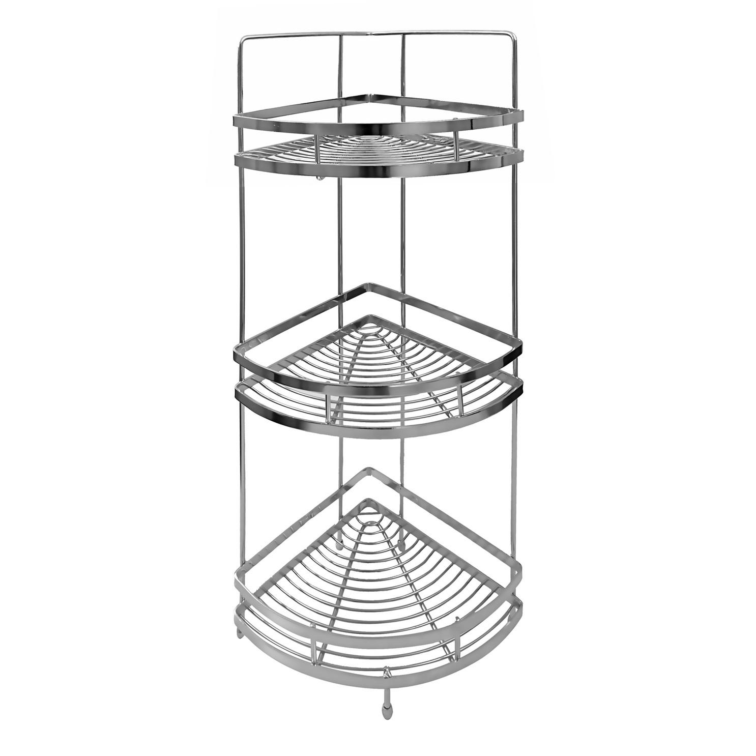 Klaxon Triple Corner Shelf / Kitchen Basket Stainless Steel ...