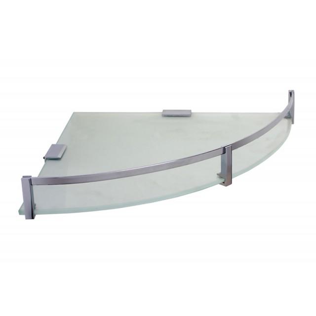 klaxon corner glass shelf with brass fittings bathroom corner shelves