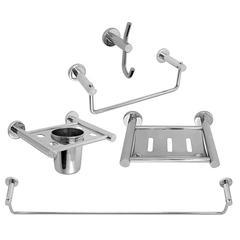 Buy Online Bath Set Bathroom Accessories Set Steel Platinum Klaxon