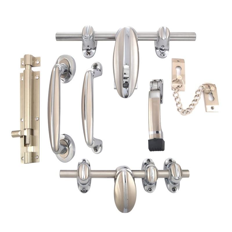 Klaxon Align Brass Door Accessories Kit (Silver Chrome Finish)  sc 1 st  Klaxon & Klaxon Align Brass Door Accessories Kit (Silver Chrome Finish ...